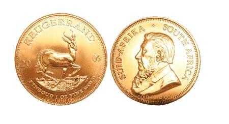 Krugerrand gullmynter fra Sør-Afrika